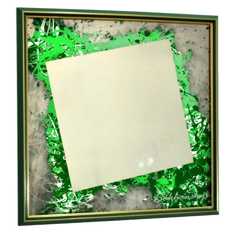 АВТОРСКОЕ ЗЕРКАЛО-КАРТИНА GREEN 57 DEGREES №6166